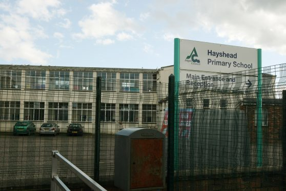 Hayshead Primary School in Arbroath before work started.