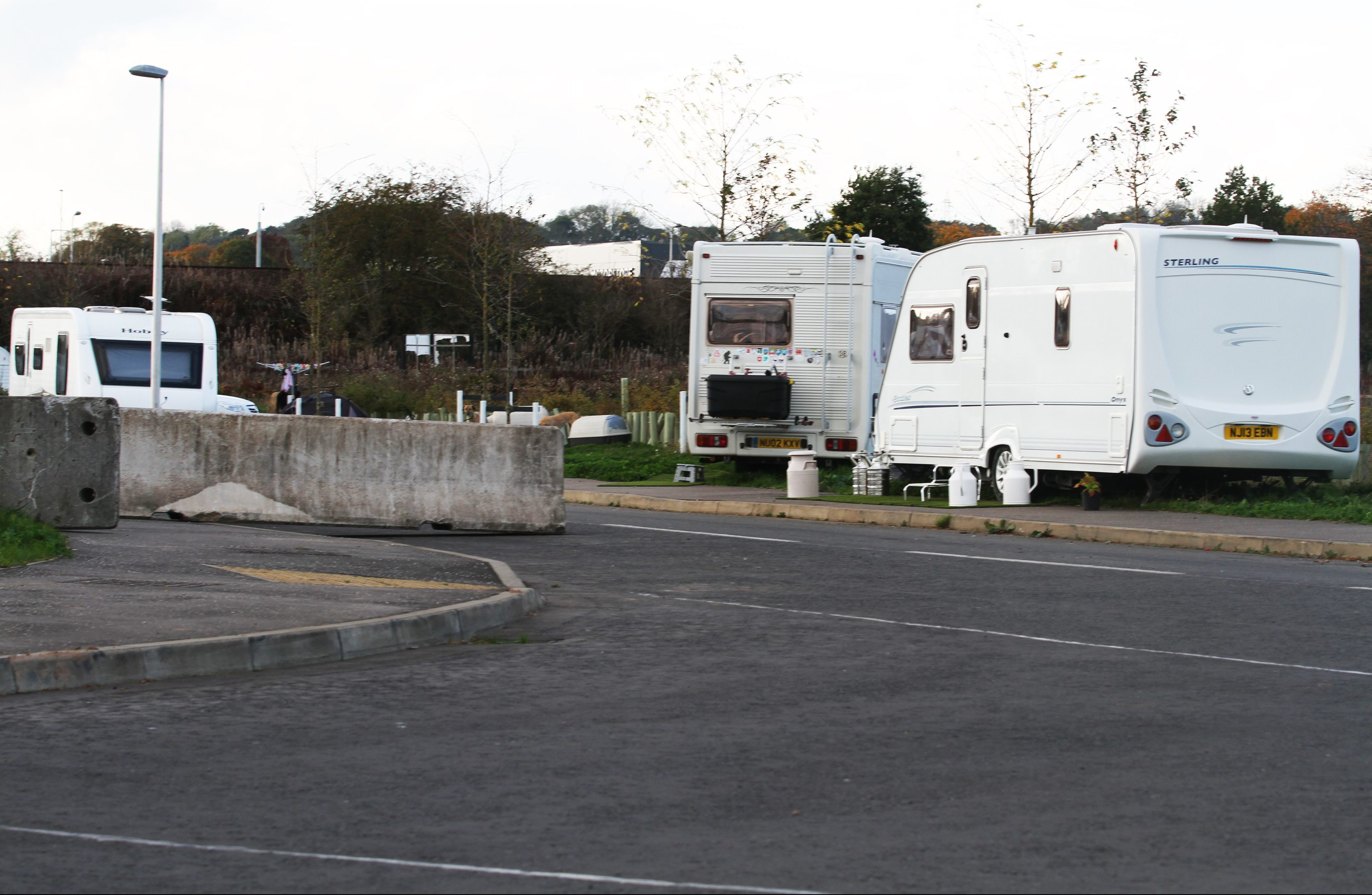 The camp on Arran Road.