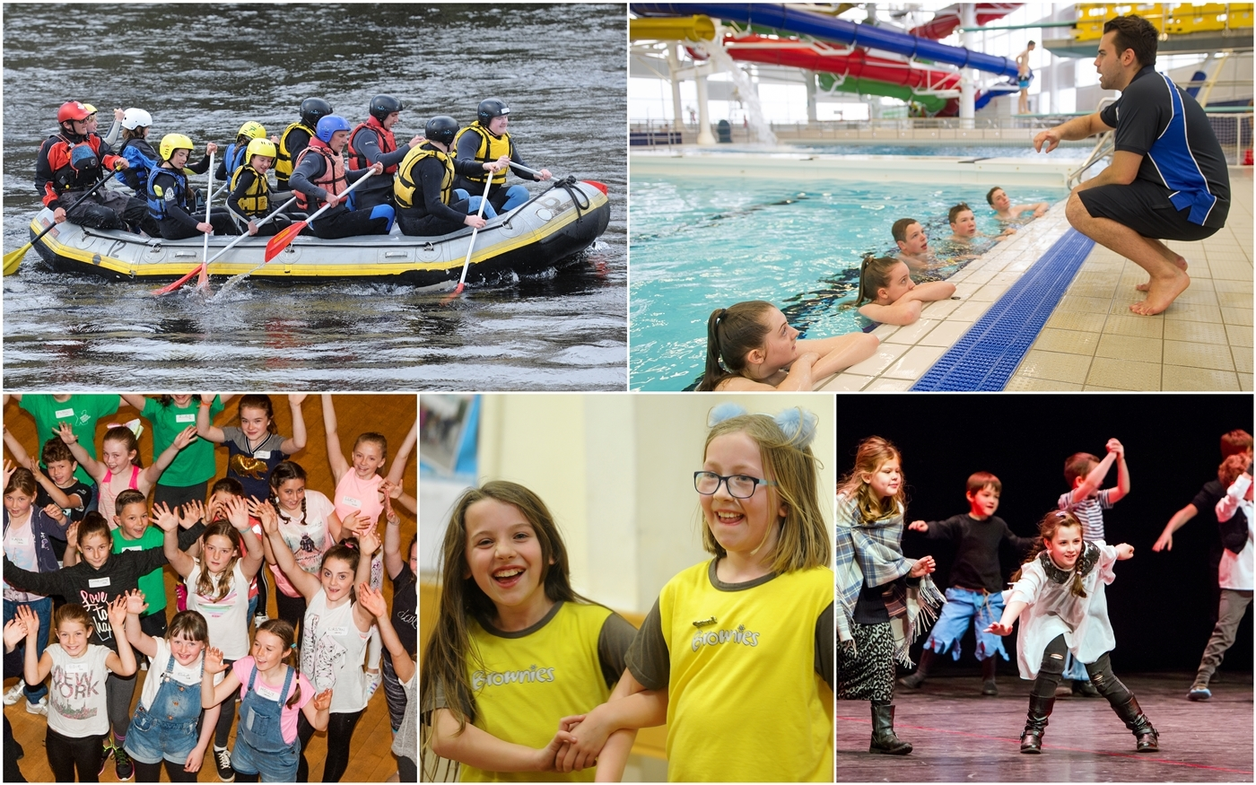 A selection of scenes showing why Perth and Kinross ranks so highly for youngsters' quality of living.