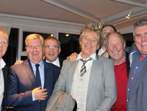 Rod Stewart poses for a photo in Aberdeen. Credit: The Silver Darling Facebook page.