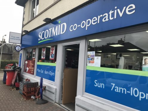 The Scotmid on Main Street, Invergowrie.
