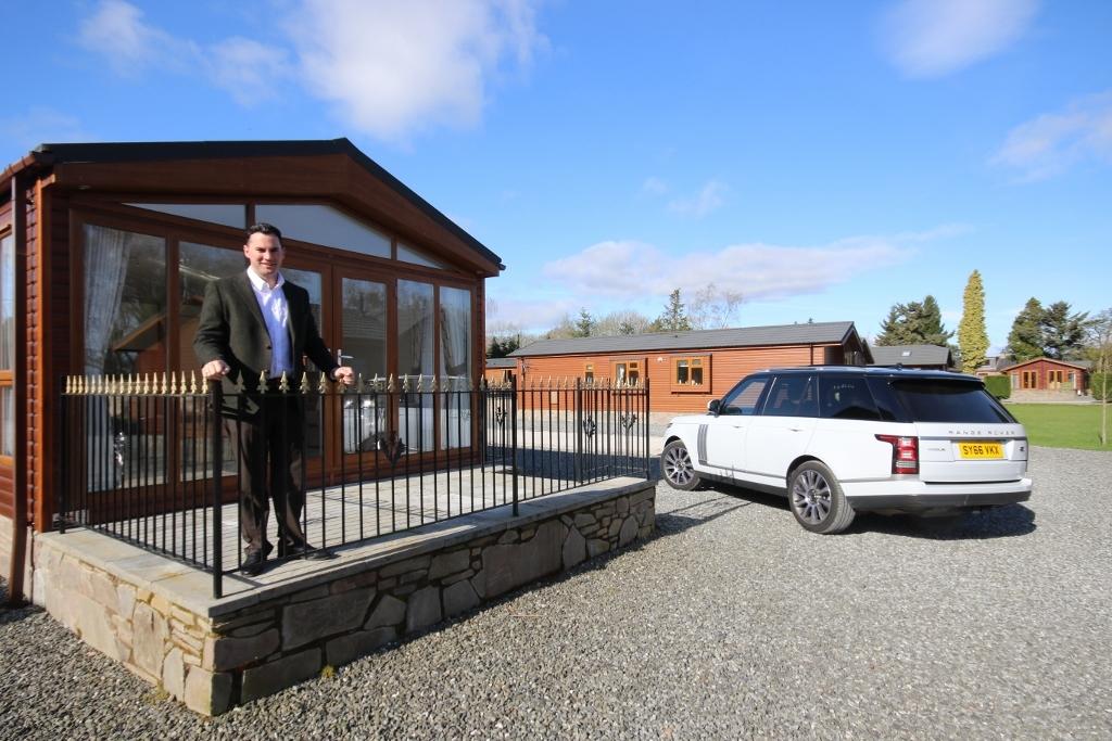 William Stewart owns lodge parks across Scotland.
