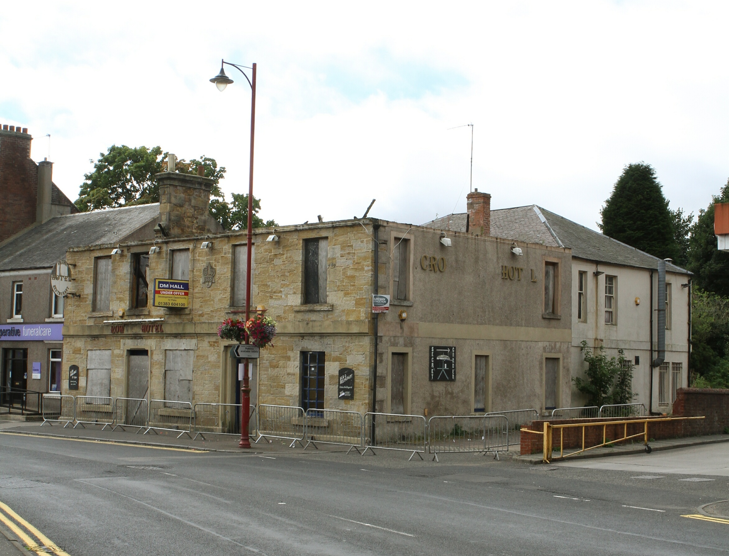 The dilapidated Crown Hotel