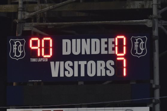 The thrashing by Aberdeen was one of the miserable Dens Park occasions of recent times.