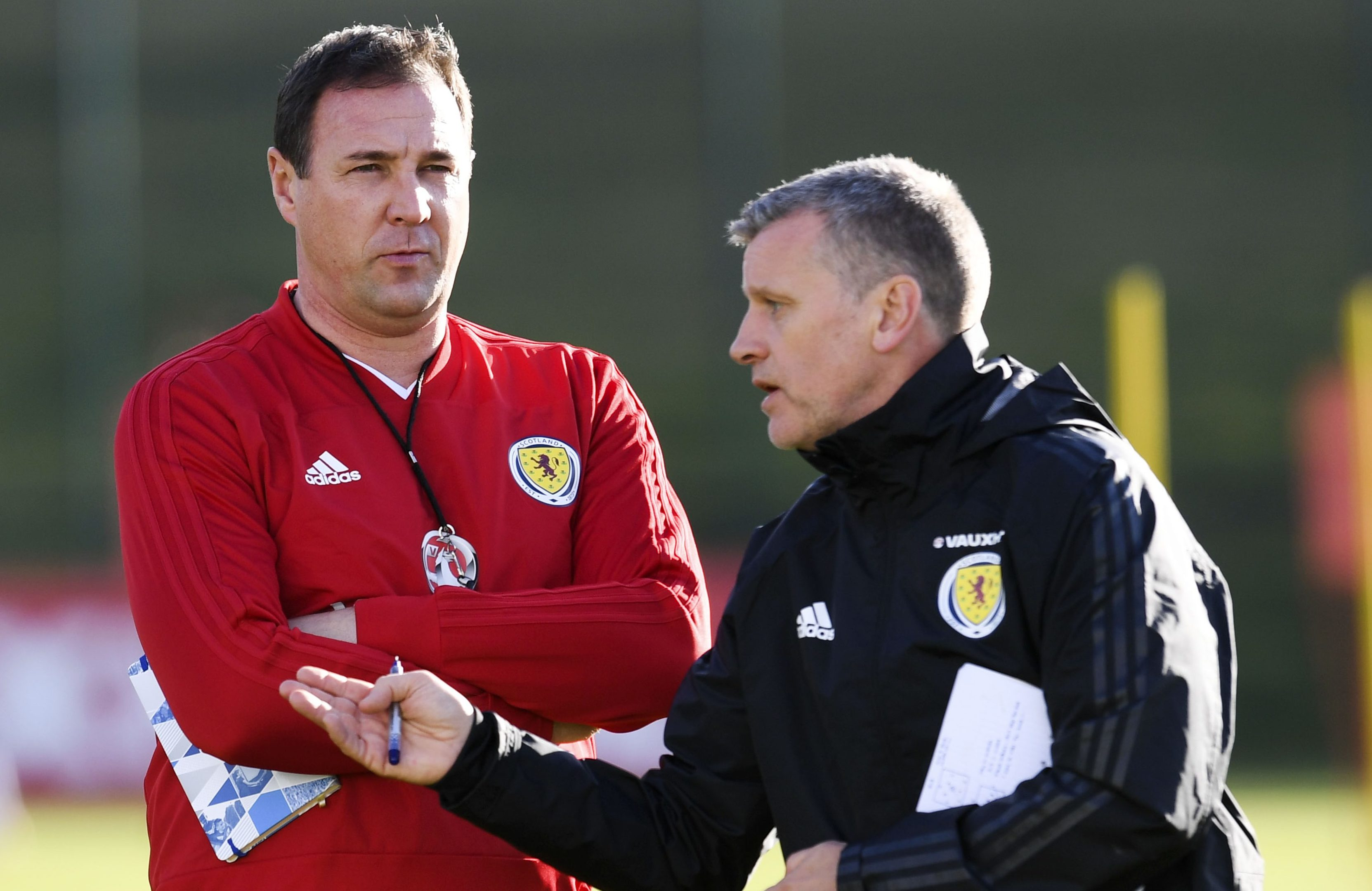 Eric Black and Malky Mackay.