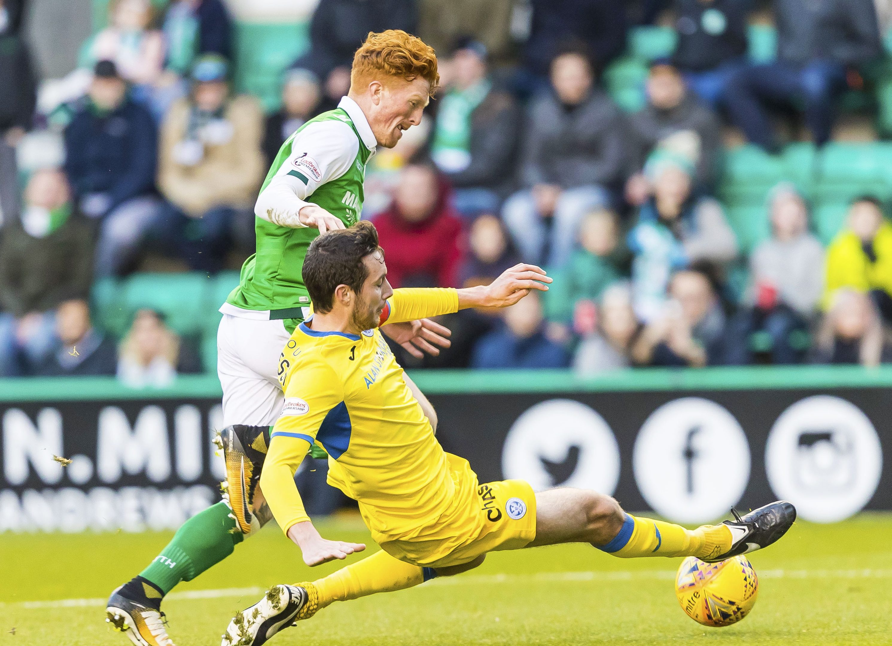 Joe Shaughnessy challenges Simon Murray.
