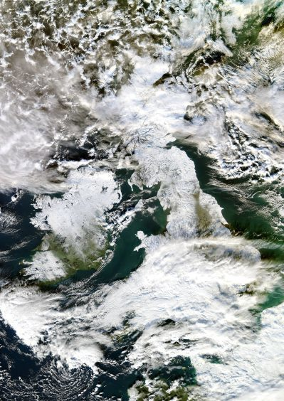 The UK from above during the big freeze of 2010-11.