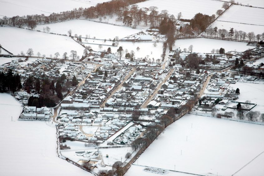 Snow covered Newtyle in 2010.