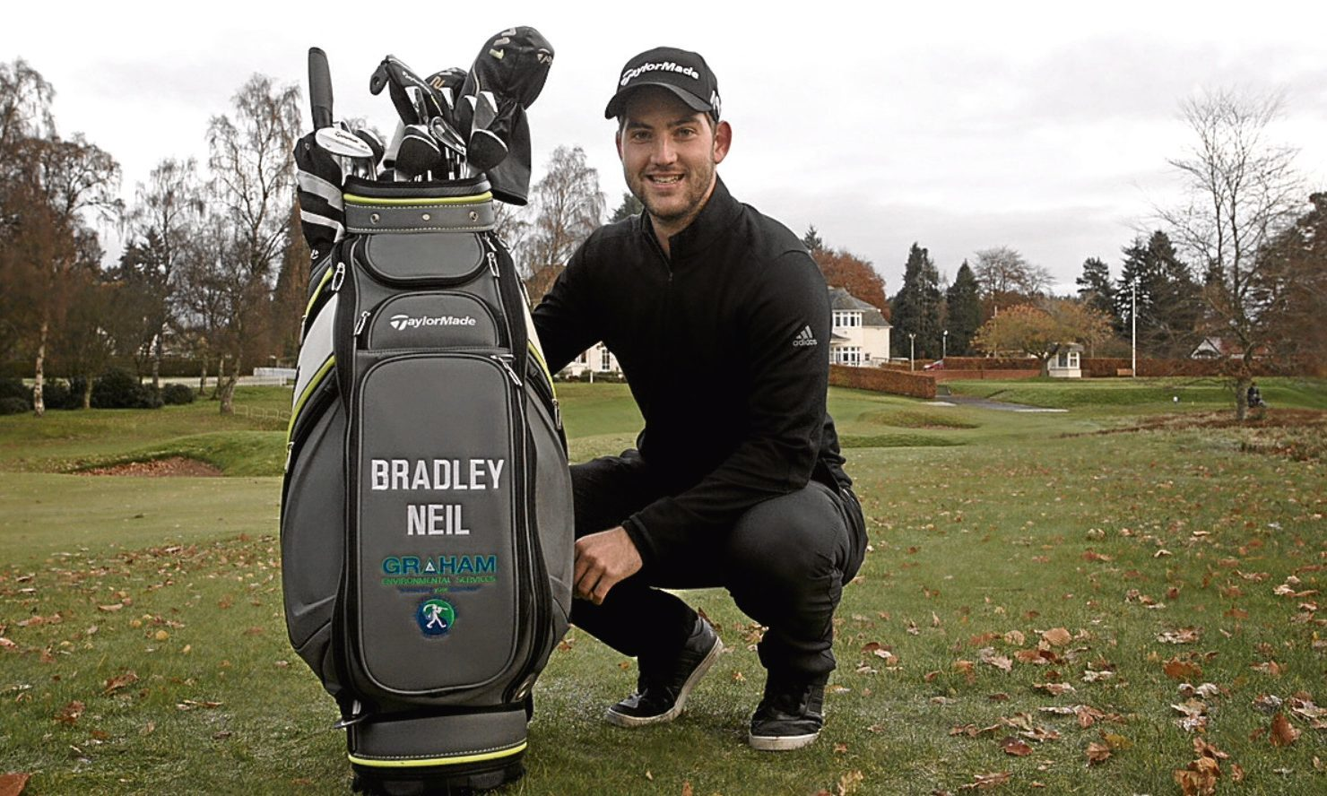 Perthshire firm Graham Environmental Services are sponsoring Bradley Neil's bag for the next two years.