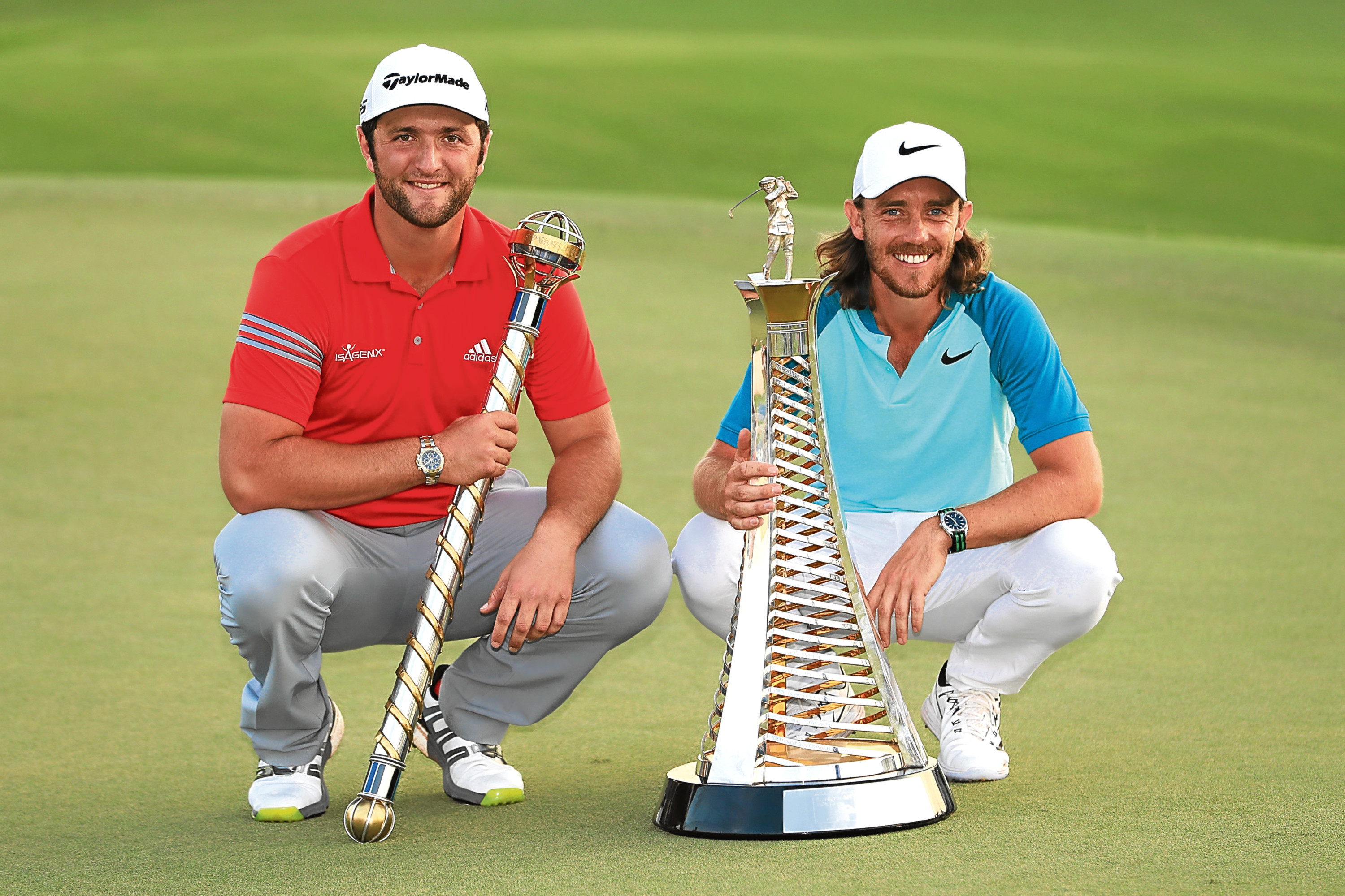 Jon Rahm and Tommy Fleetwood (l) will be formidable Ryder Cup rookies.