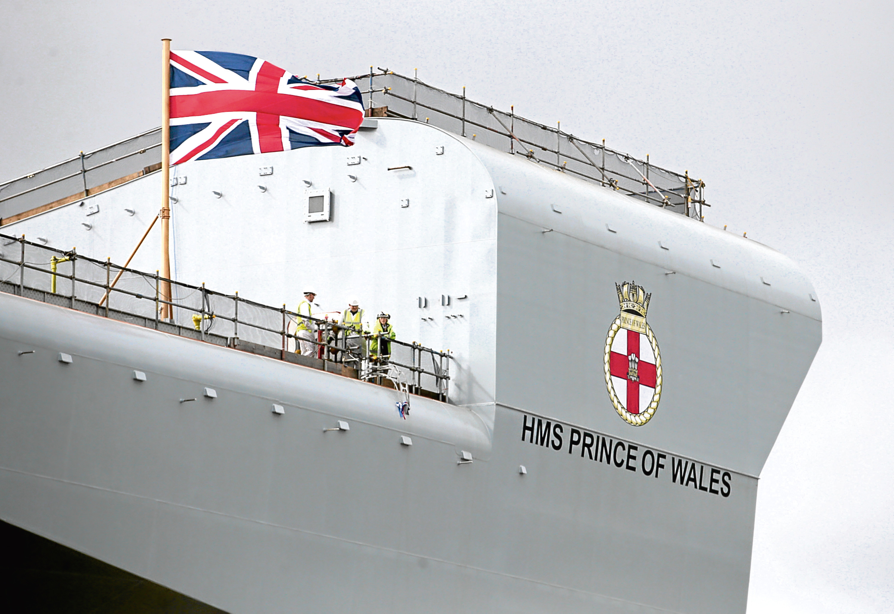 The HMS Prince of Wales aircraft carrier was assembled at Rosyth