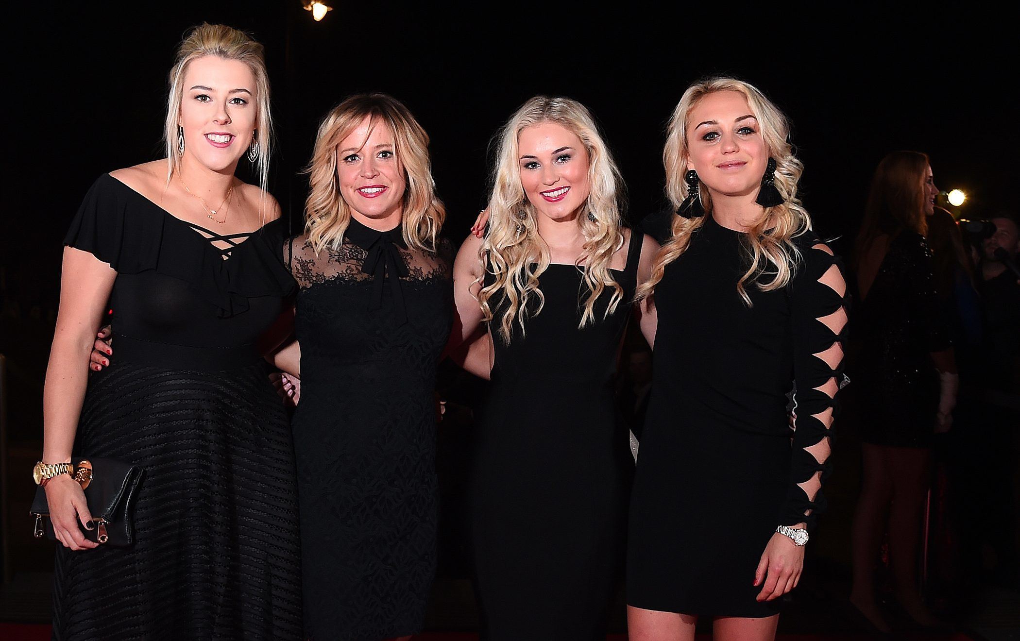 Winter Olympians Katie Summerhayes, Jenny Jones, Katie Ormerod and Aimee Fuller attend the Team GB Ball.