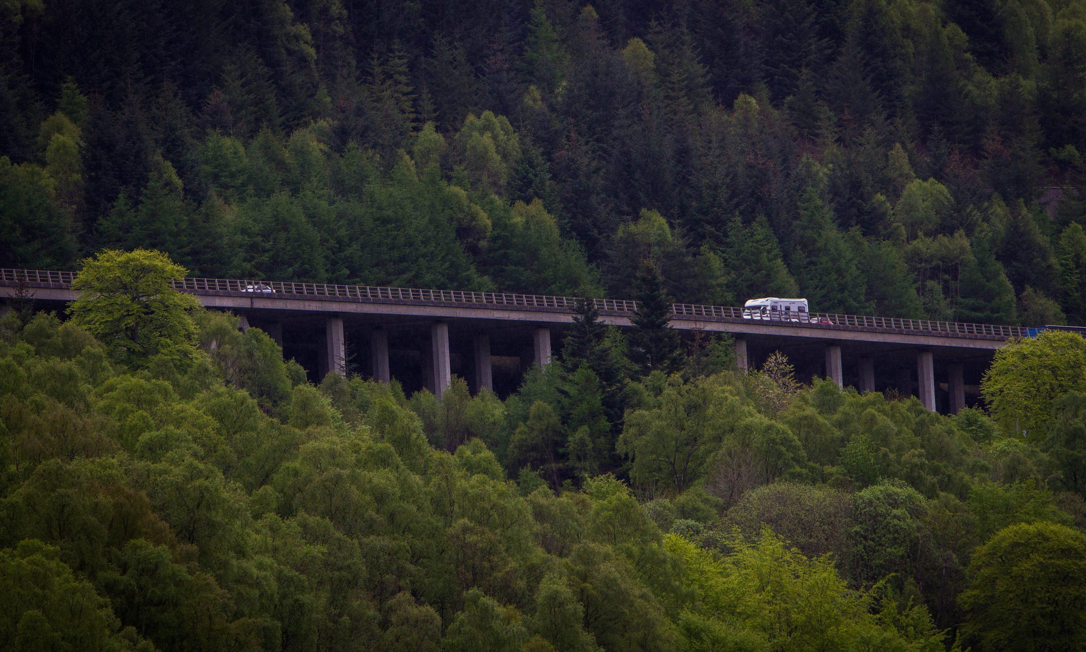 The A9 near Killiecrankie