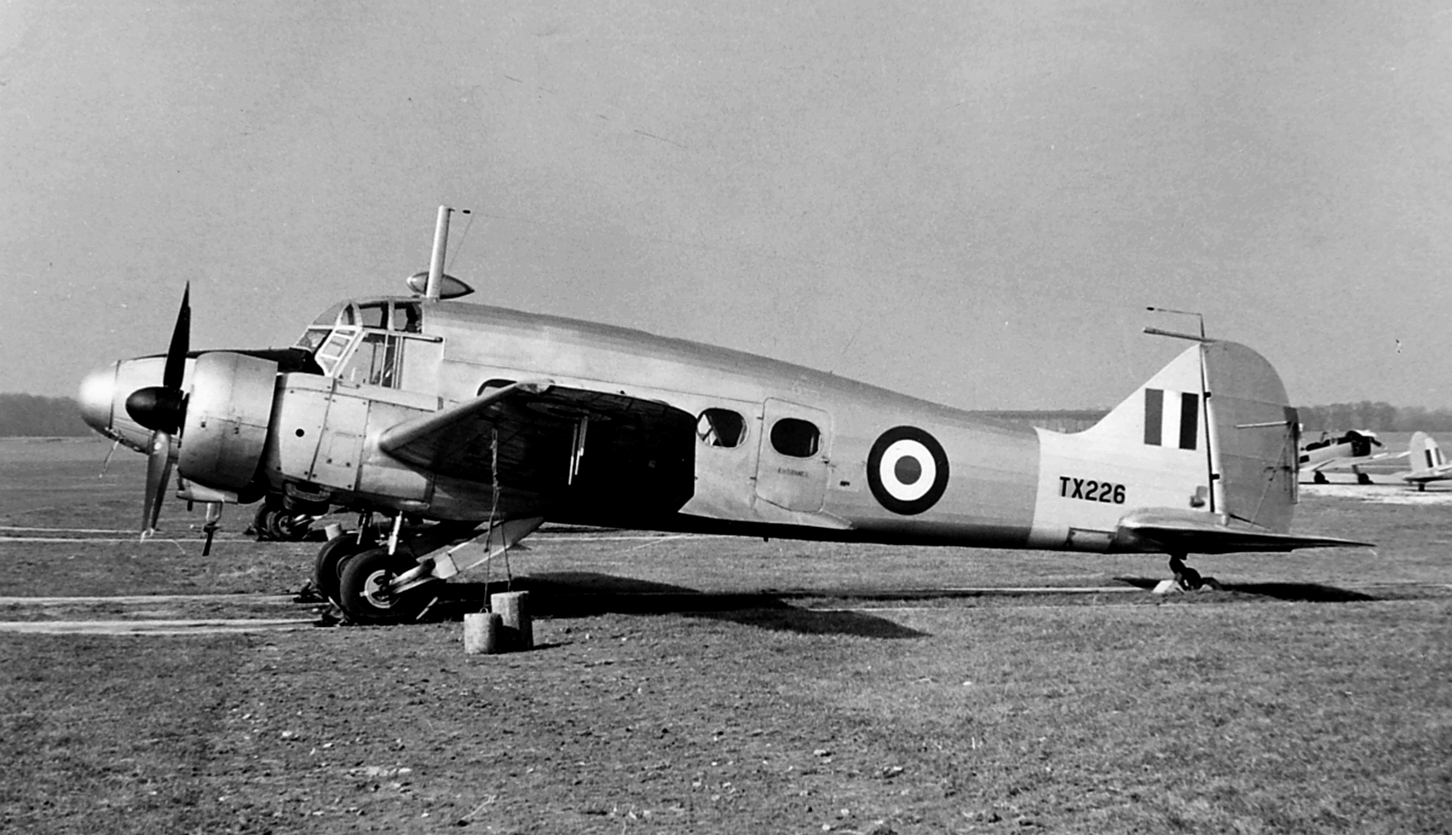 Anson C19 TX226 photographed with Flying Training Command Communications Squadron at RAF White Waltham in 1962.