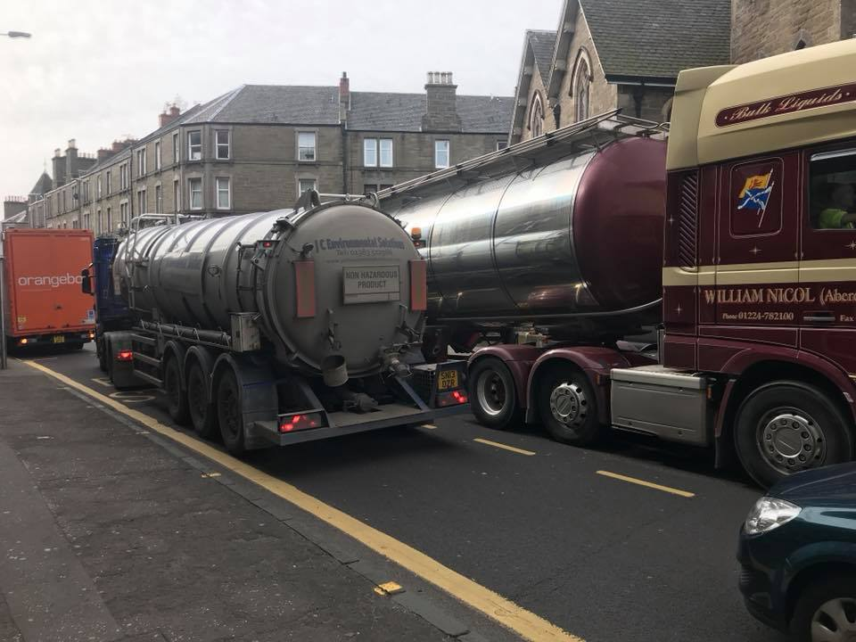 Concerns have been expressed at the number of HGVS using Albert Street.