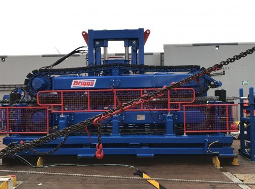 One of Briggs Marine's cable tensioner units.