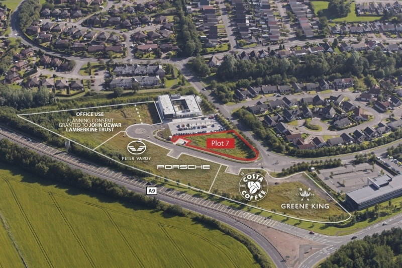 The plans for Broxden Business Park in Perth.