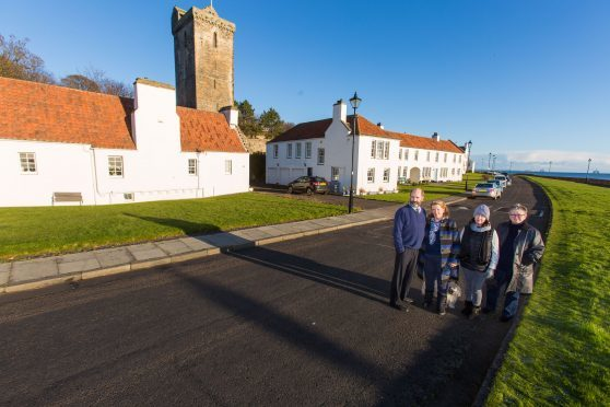 Residents including Brian and Ros Chapman, Maureen Latto and Ann Flynn want to protect historic Pan Ha' for future generations