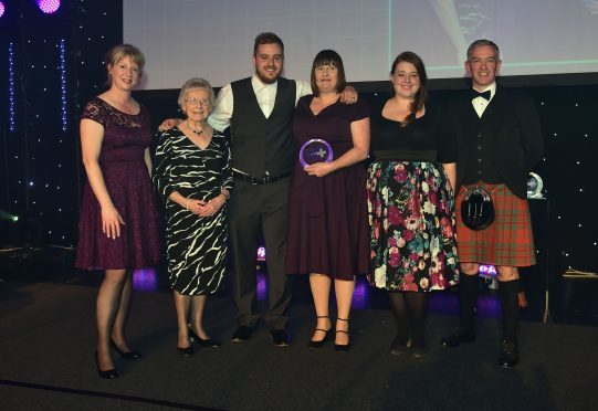 Scottish Health Awards 2017 - Corn Exchange Edinburgh.   Winner - Care for long-term illness Award - Karen Thompson and Realise