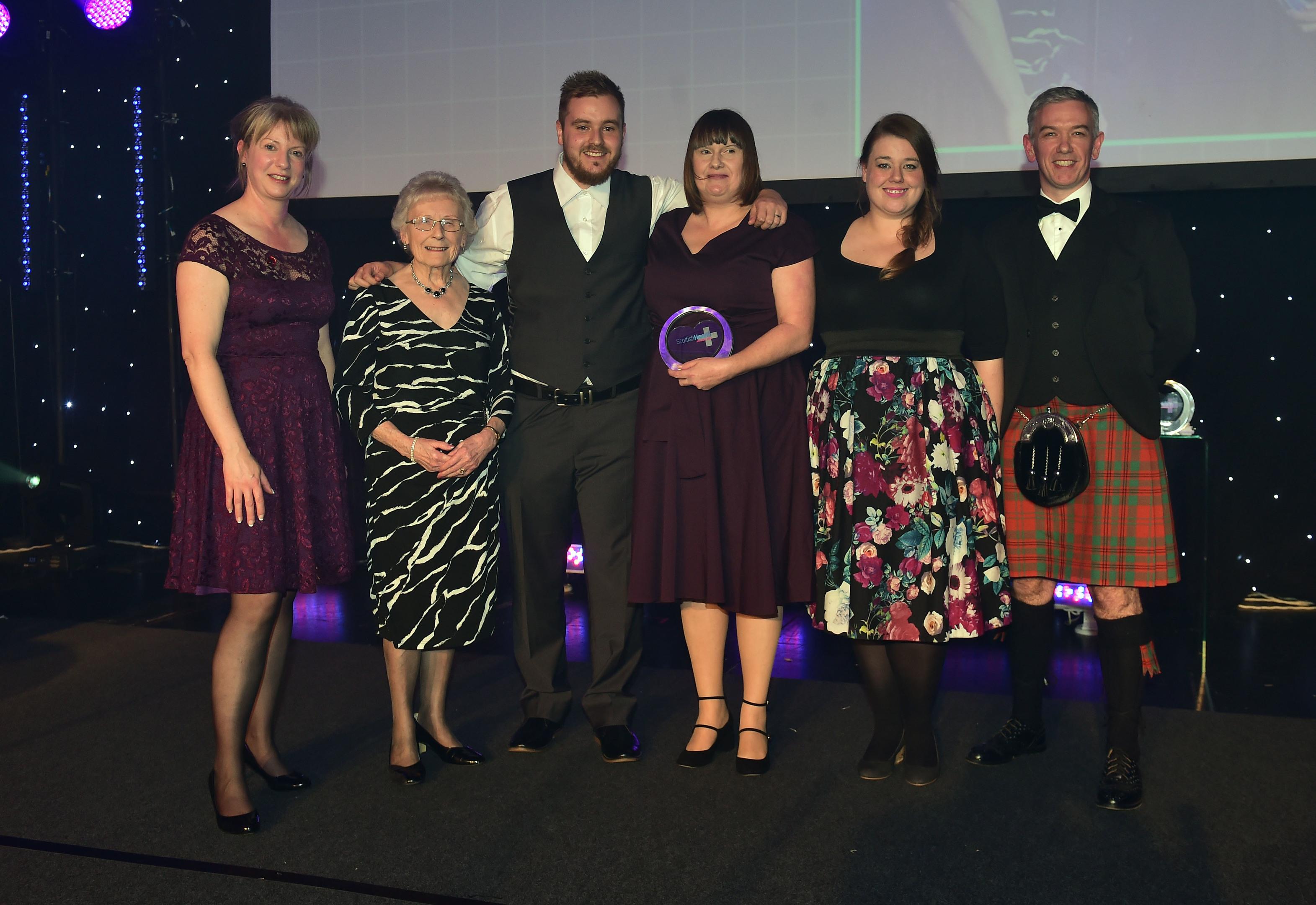 Scottish Health Awards 2017 - Corn Exchange Edinburgh.   Winner - Care for long-term illness Award - Karen Thompson and Realise