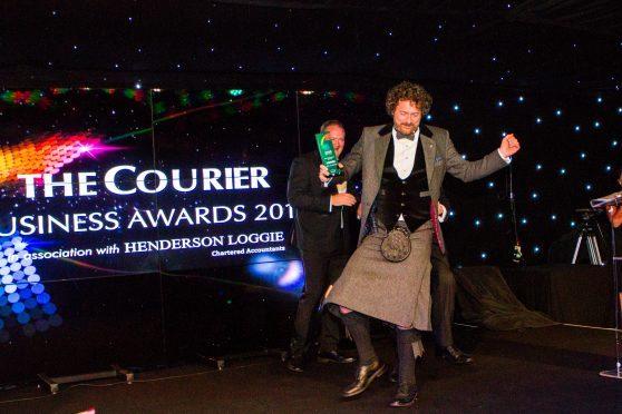 The winner of the 2017 Outstanding Contribution Award, Chris van der Kuyl.