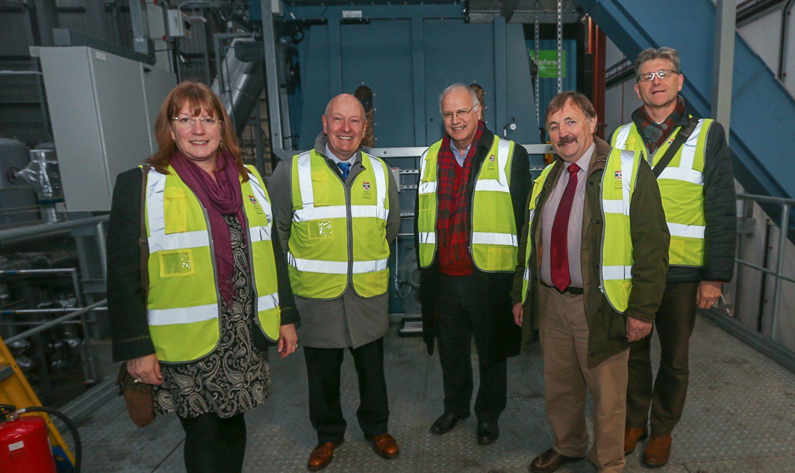 Councillors tour the site