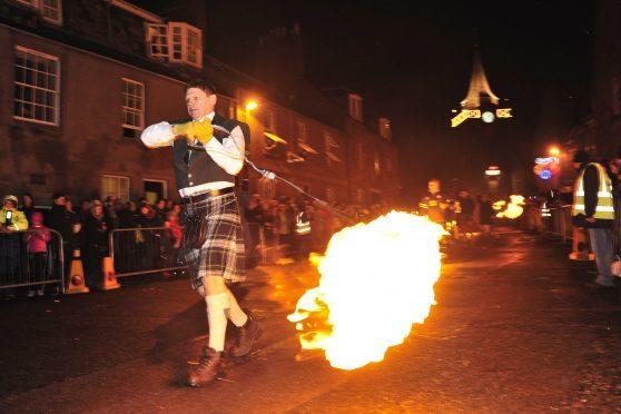 The Stonehaven fireballs parade is one of Scotland's most famous Hogmanay events.