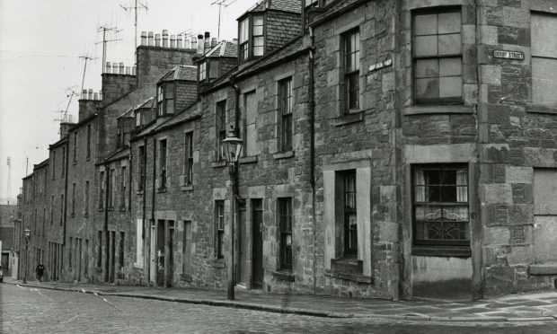 The former Russell Street in Dundee photographed in 1962.