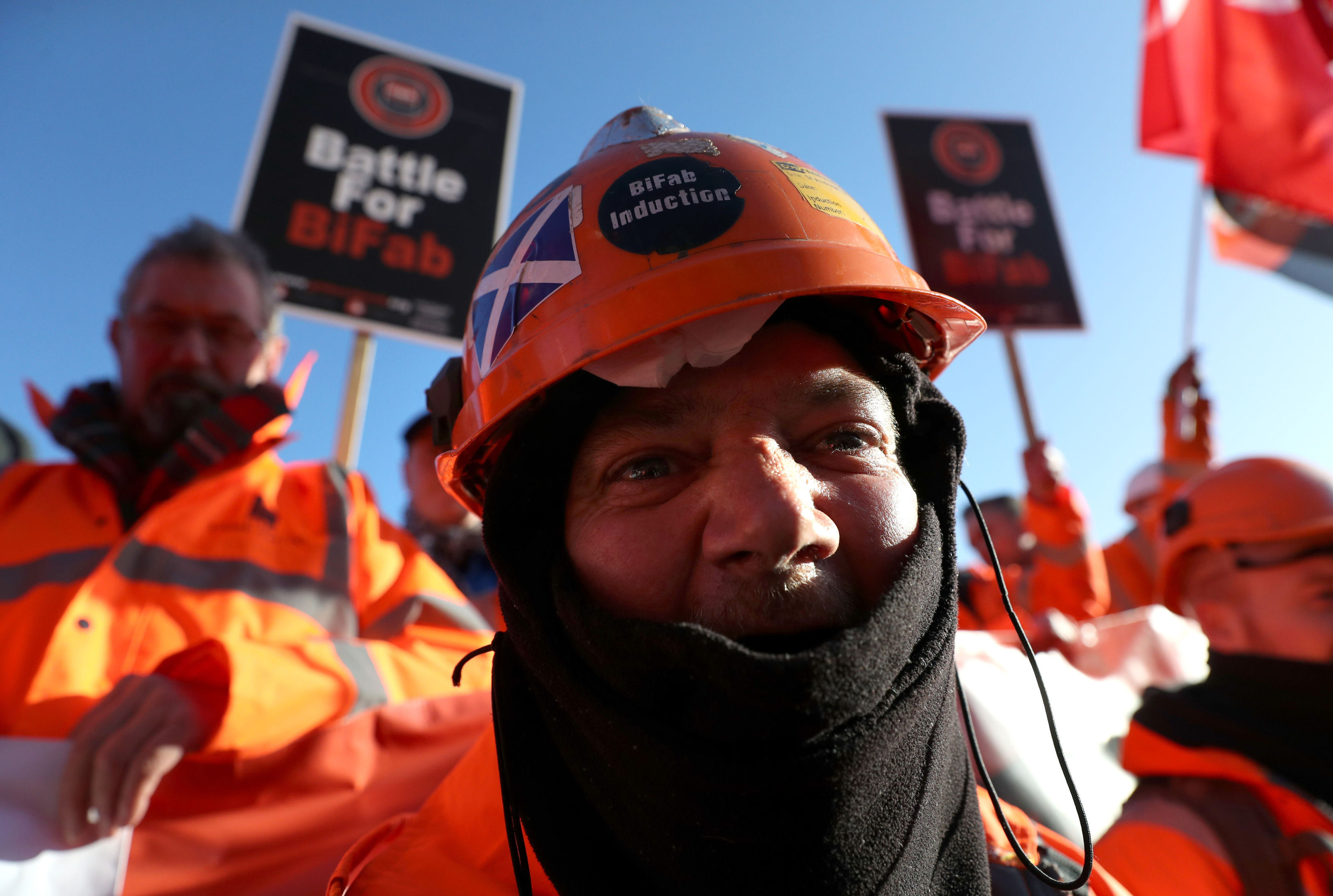 BiFab workers at a rally to Holyrood in 2017