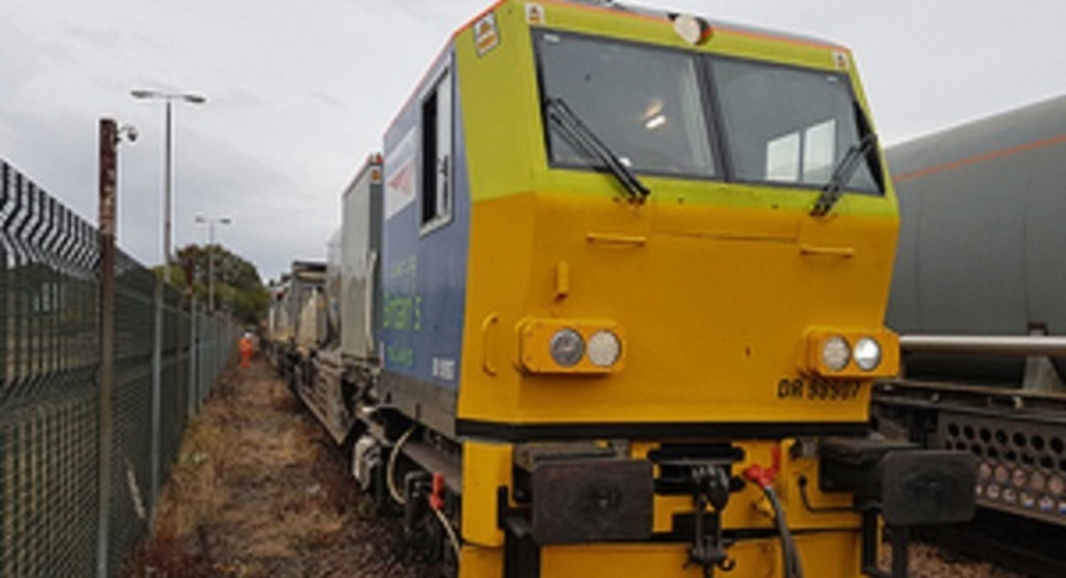 The train involved in the accident
