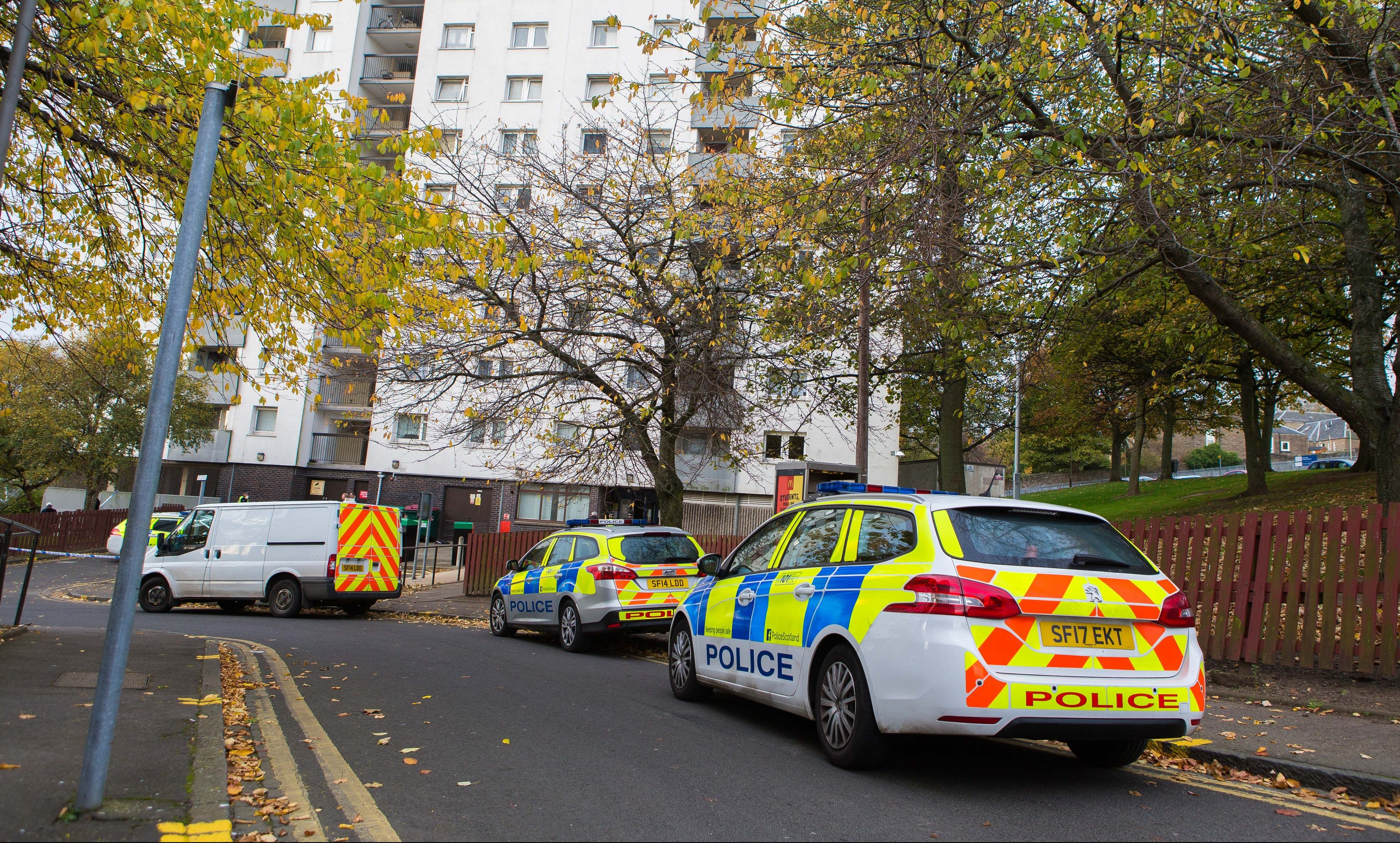 Emergency services at Dallfield Court.