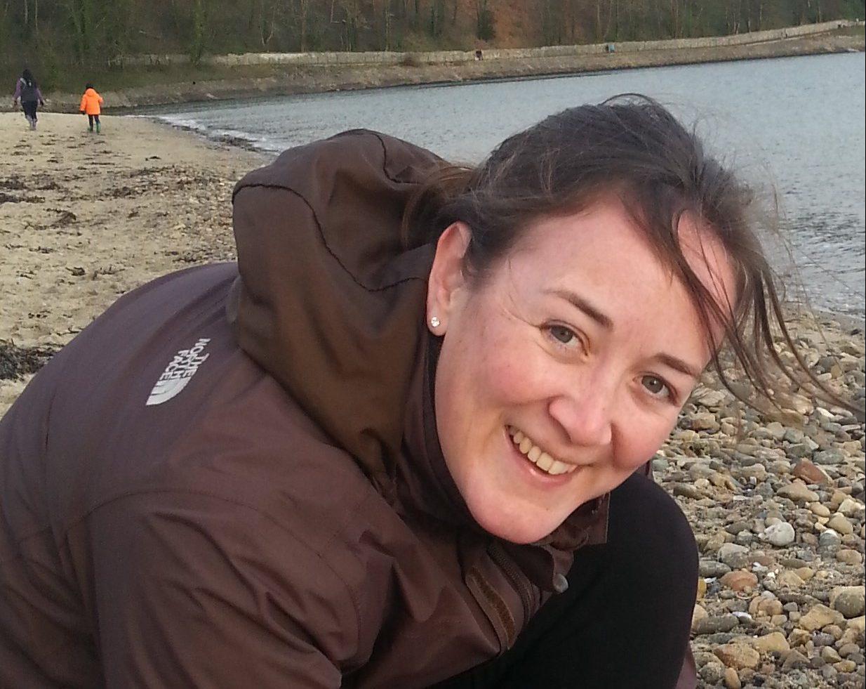 Joanna on her local beach