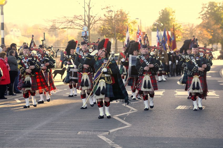 PERTH: The military parade offers a salute to the dignitaries in attendance