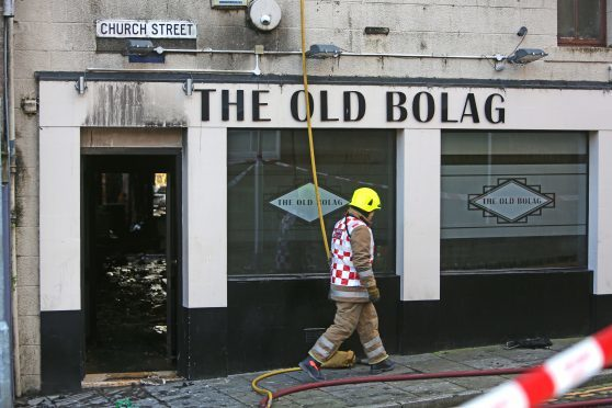 The Old Bolag in Brechin was badly damaged in a fire on Sunday morning