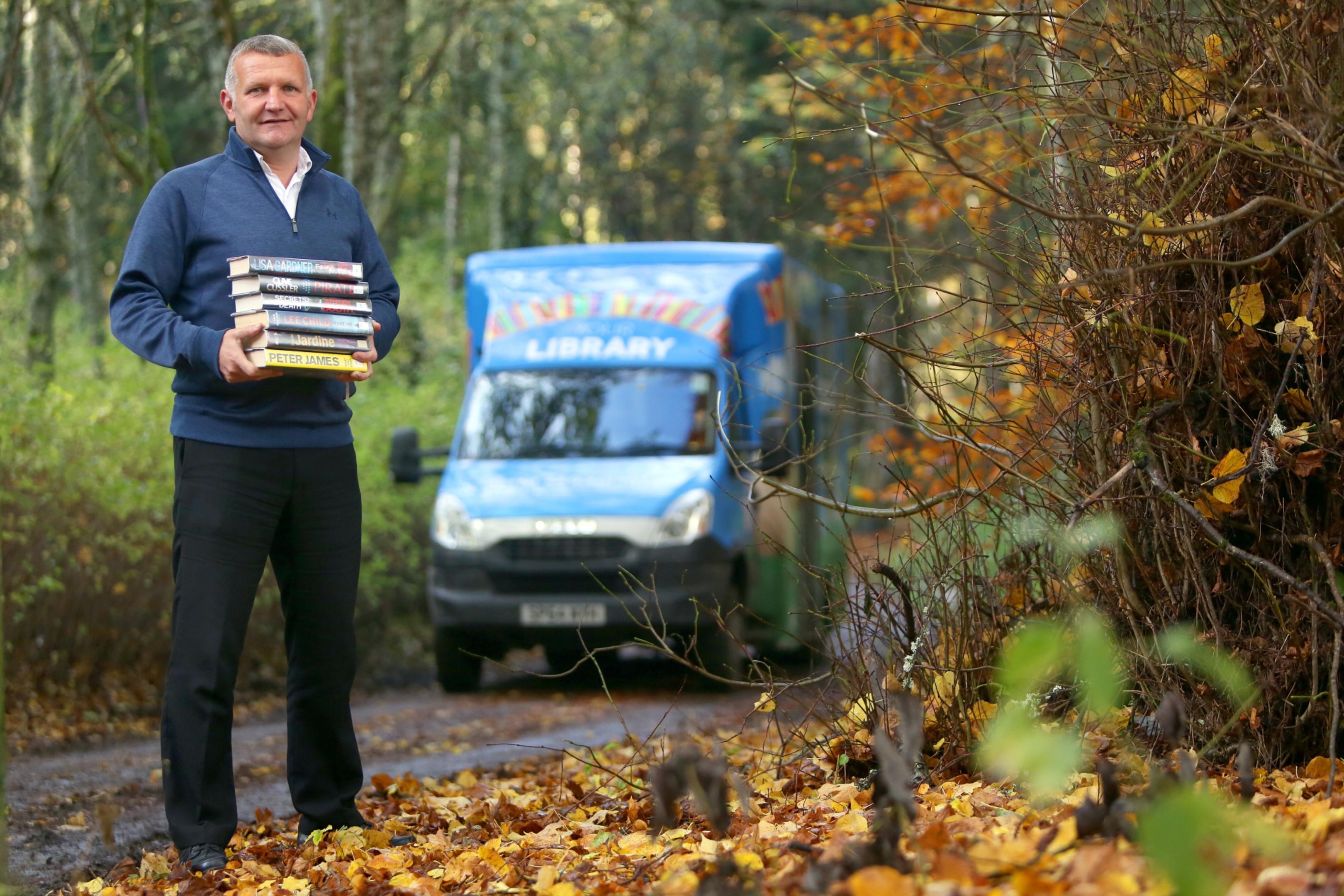 Scott Brown and the mobile library van in Bridge of Tilt.