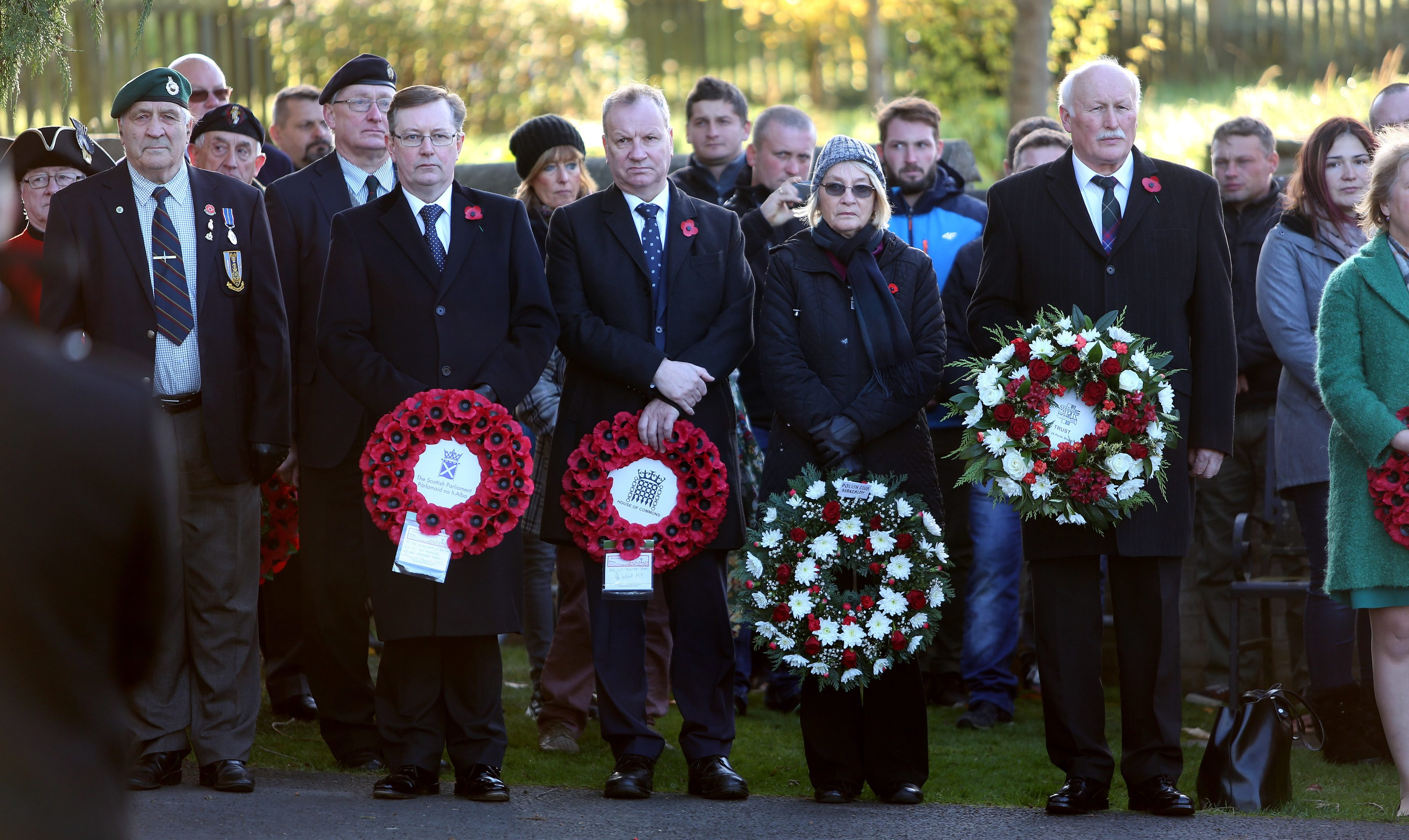 The annual commemoration of Polish war dead from WW2 took place at Wellshill cemetery,