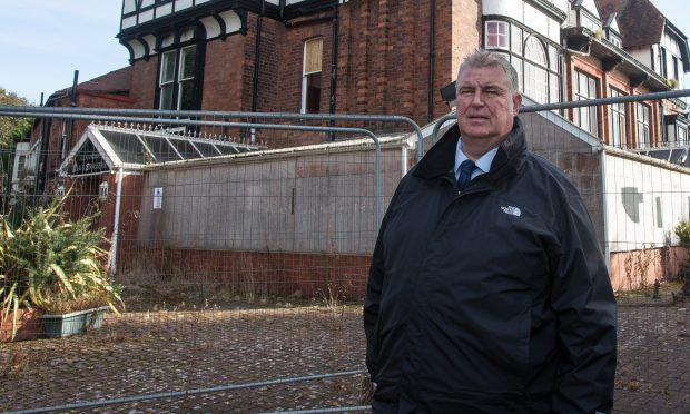Councillor Colin Davidson has been delighted with the way the community has pulled together.