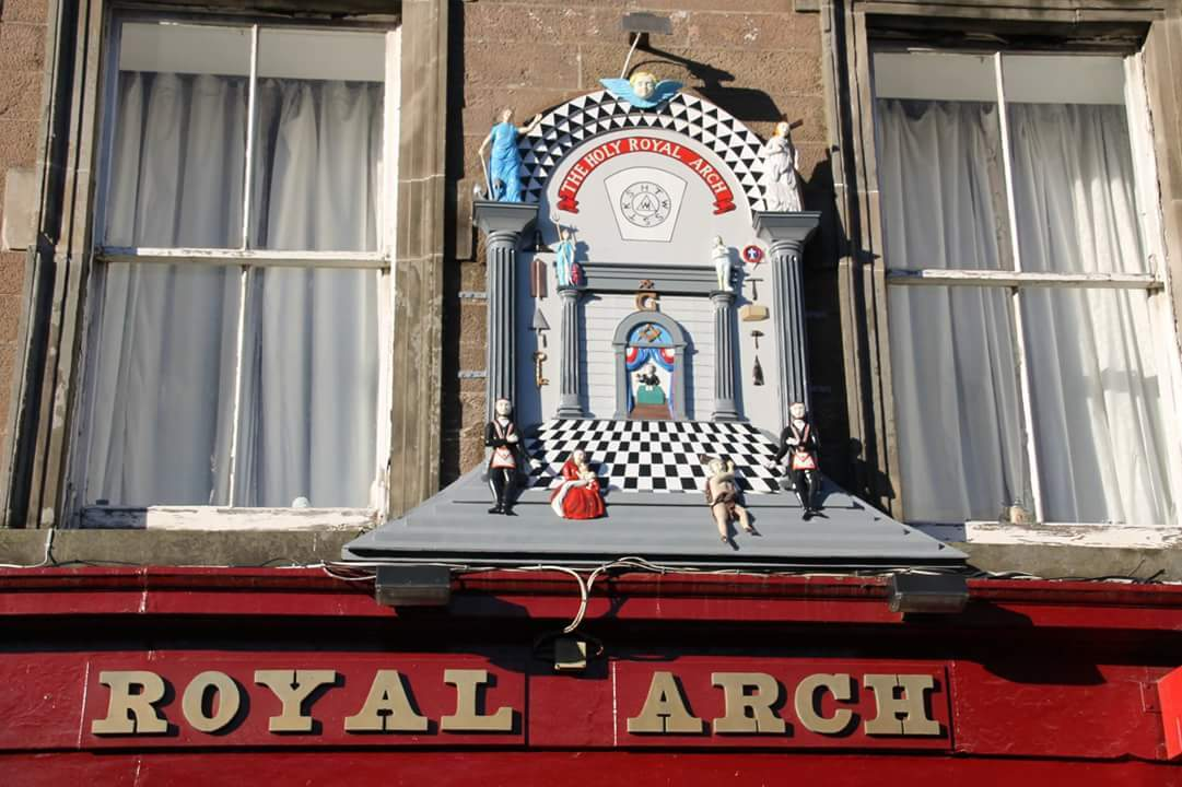 The Holy Royal Arch sign has been a major landmark in the town since the 18th century