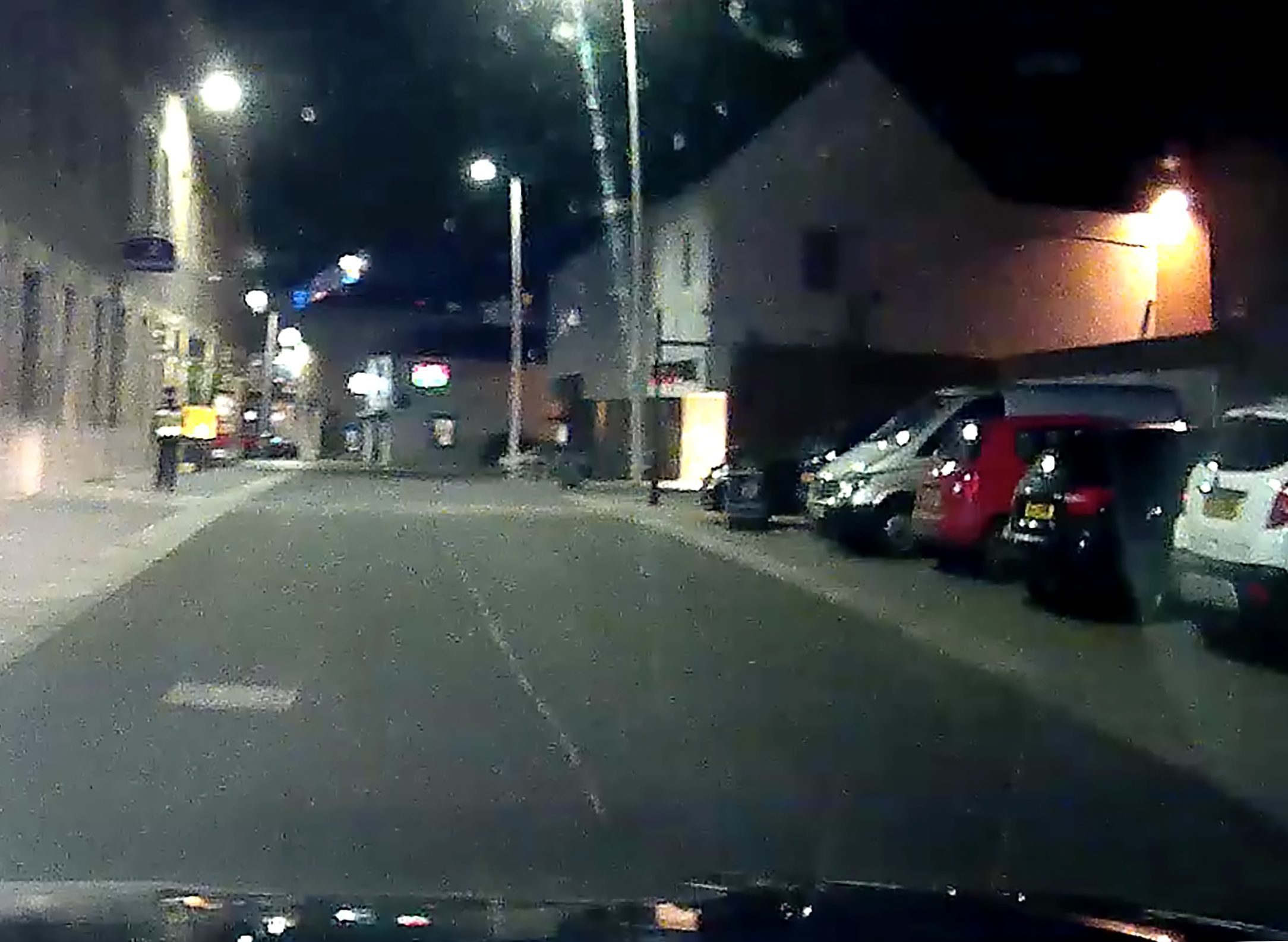 Dash cam footage from Mill Street of one of the attendants  and the vehicles on the right which all had parking fines.