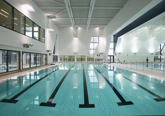 The pool at Michael Woods Sports and Leisure Centre in Glenrothes.