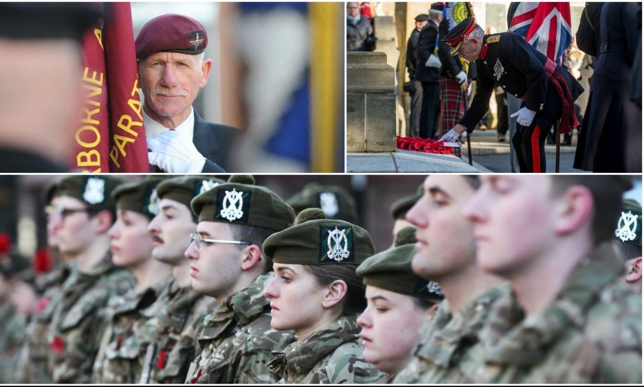 A number of Remembrance Sunday services were held across Courier Country.