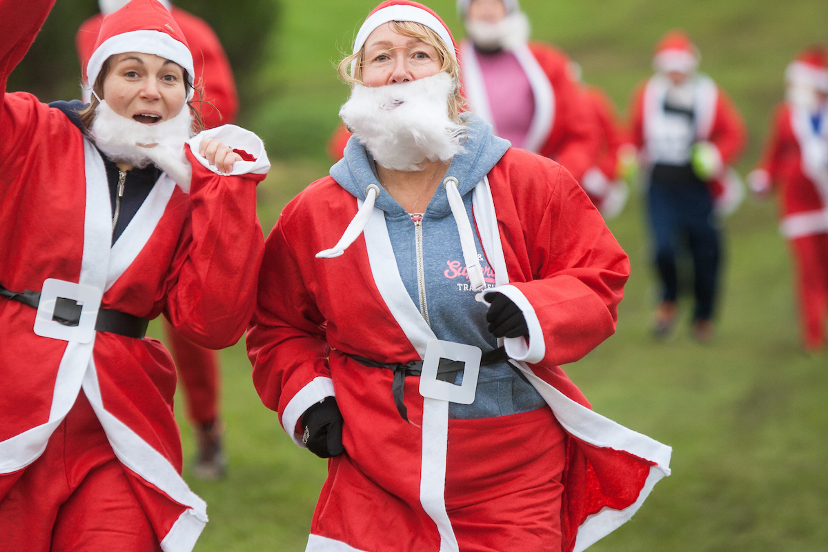 Ho! Ho! Ho! Santas of all ages took part