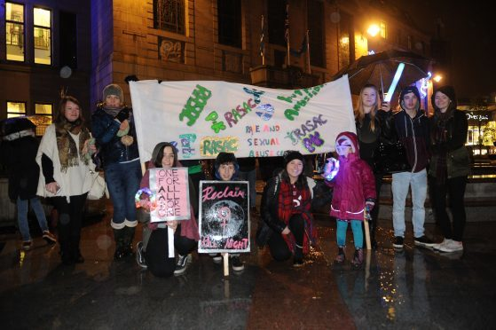 Some of the marchers at last year's reclaim the Night rally. The annual event will take place this Thursday.