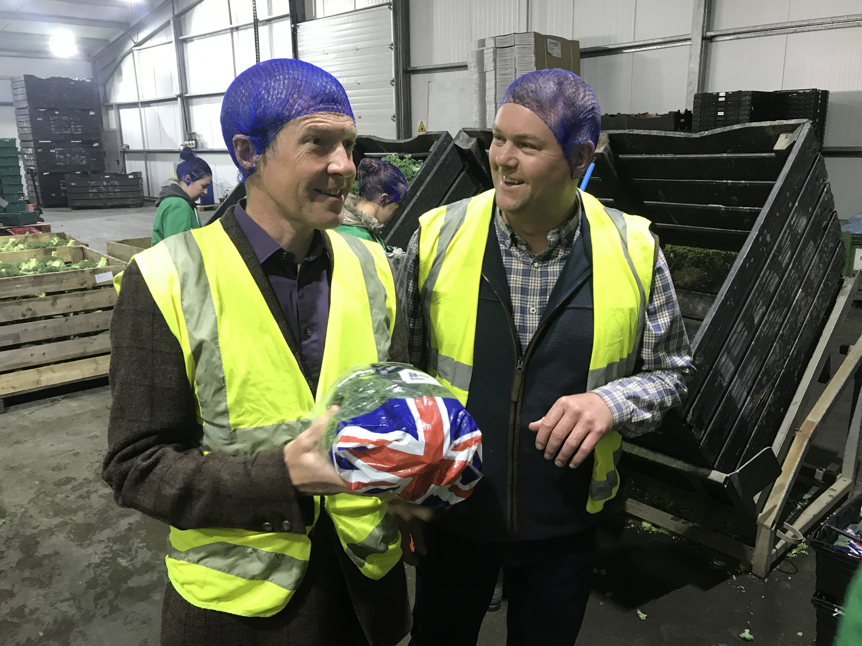 Willie Rennie MSP and Rob Stockwell during his recent visit to Barnsmuir Farm near Crail
