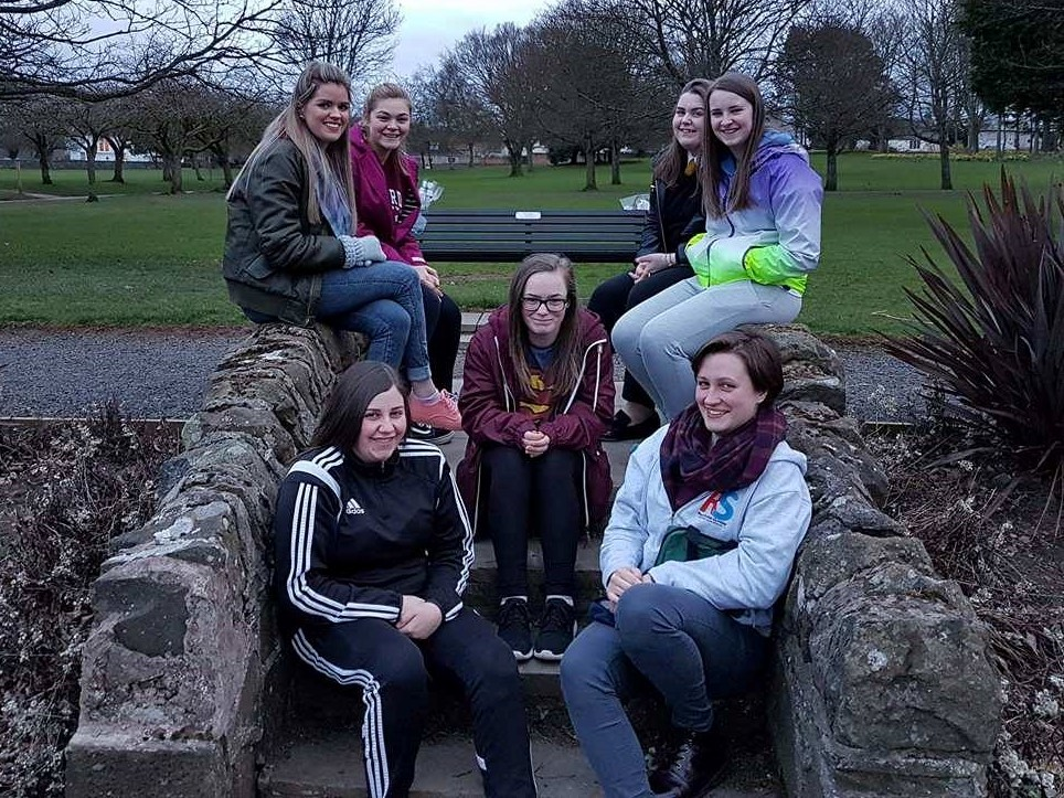 Sheila, Amy, Jessica, Beth, Becky, Katie, and Cat of the Rock Solid Youth Project.
