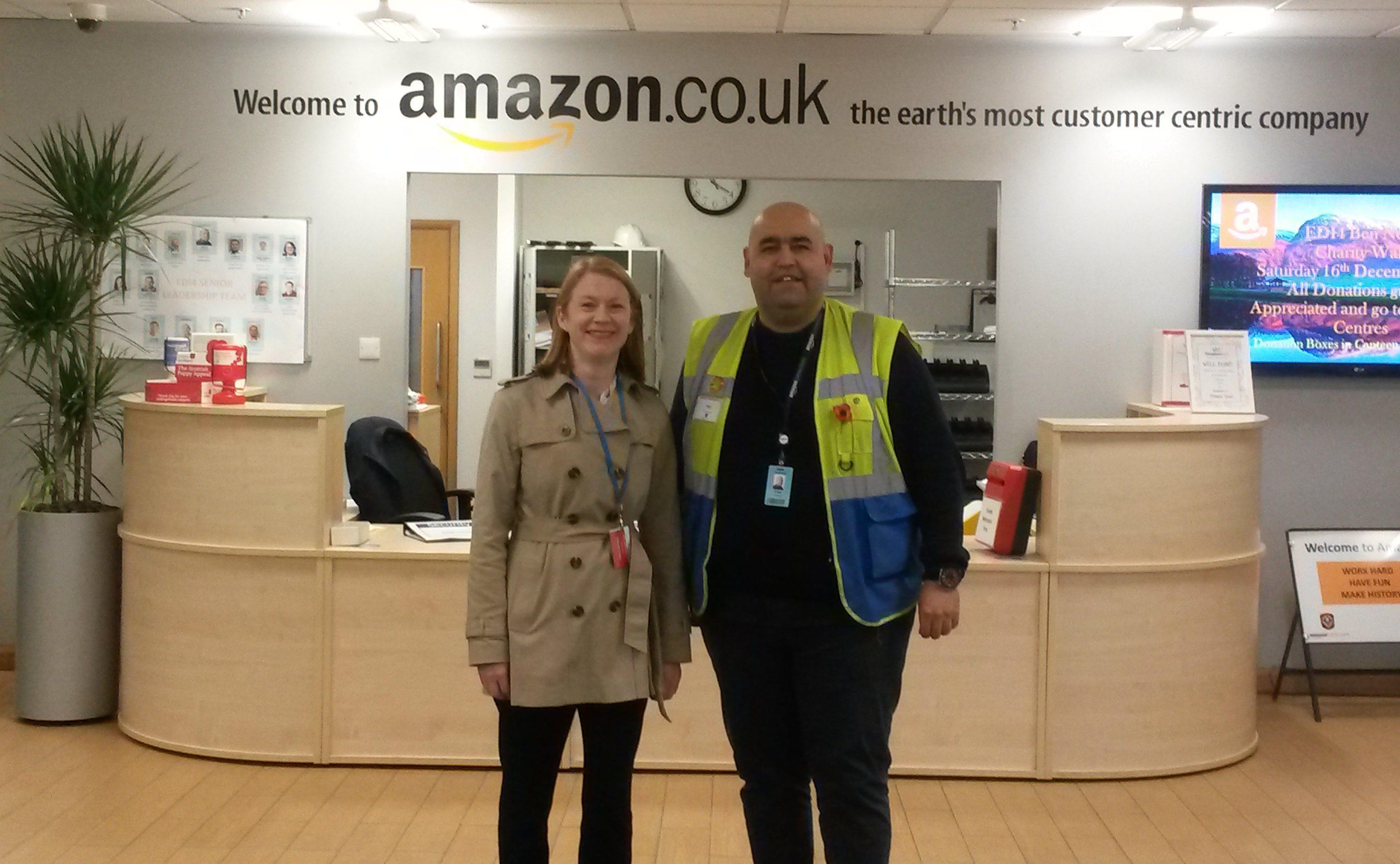 MSP Shirley-Anne Somerville meets Dunfermline centre manager Paul Ashraf
