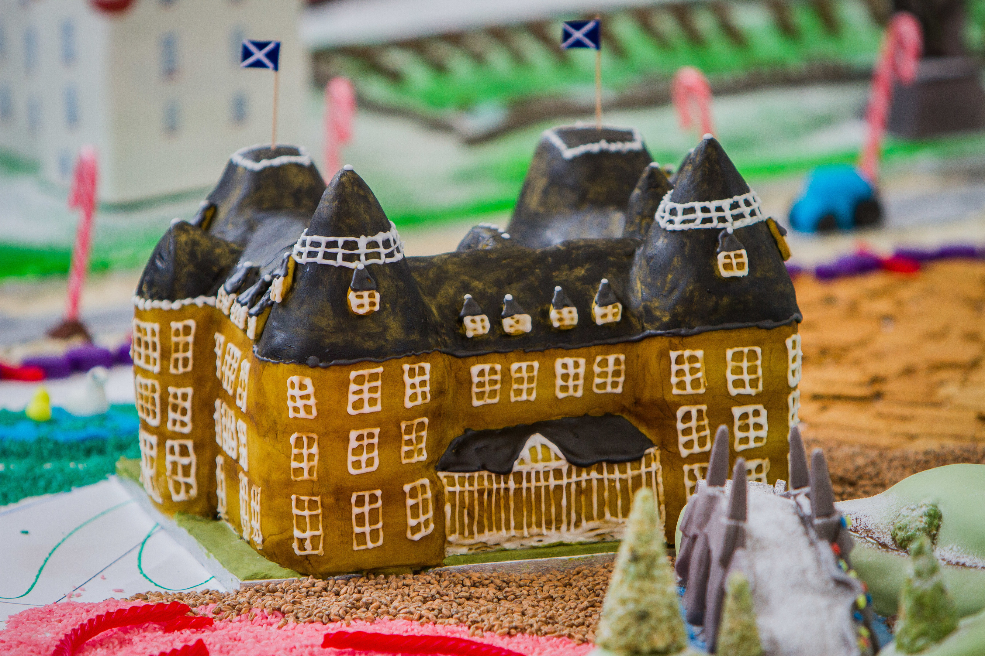 The Atholl Palace Hotel in a cake form.