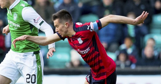 Dundee's Cammy Kerr in action against Hibs.