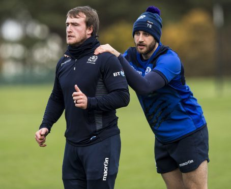 Tommy Seymour (r) and Stuart Hogg are neck-and-neck chasing Scotland's try-scoring record.