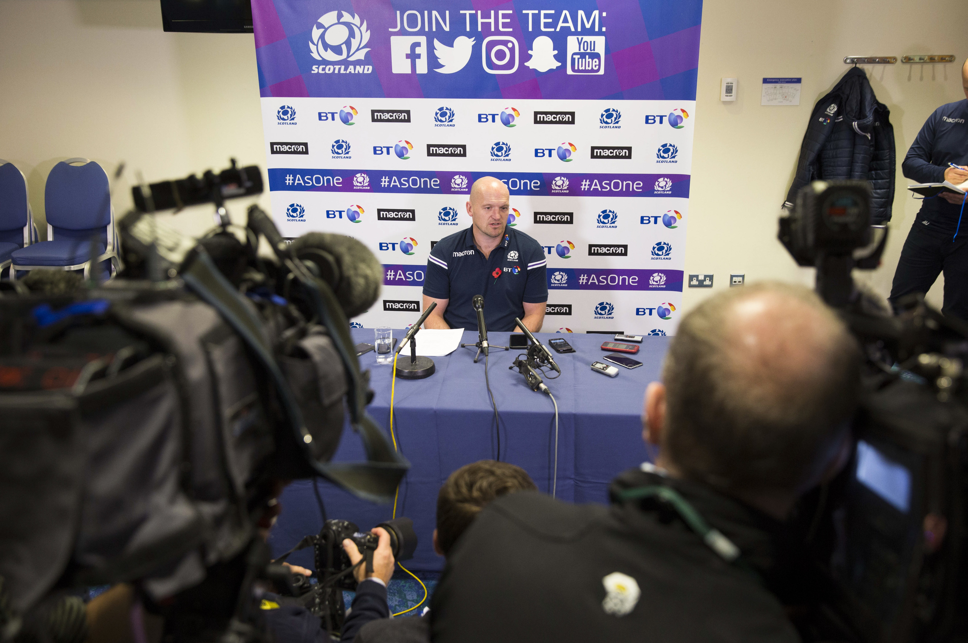Scotland head coach Gregor Townsend announces his squad to play Samoa at Murrayfield.